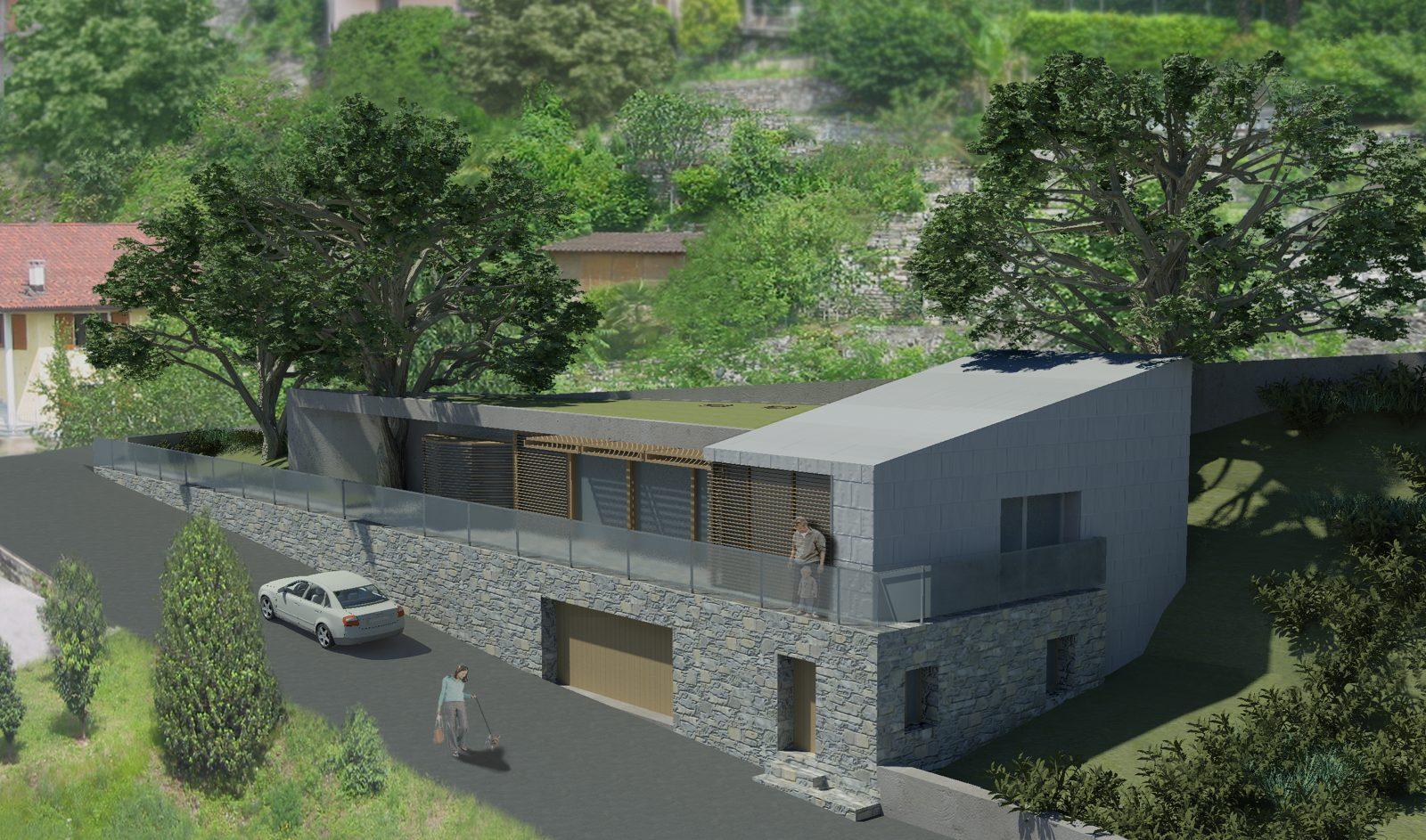 Terreno edificabile per villa singola al confine con Maslianico